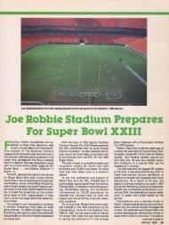 JoeRobbie Stadium Prepares For Super Bowl XXIII - About SportsTurf