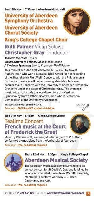 aberdeen music 2012 - University of Aberdeen
