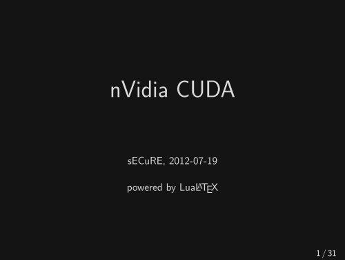 nVidia CUDA - NoName eV