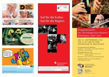 Gut für die Kultur. Gut für die Region. - Musikverein Stadtkapelle ...