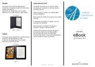 Flyer eBook - Sistema bibliotecario ticinese