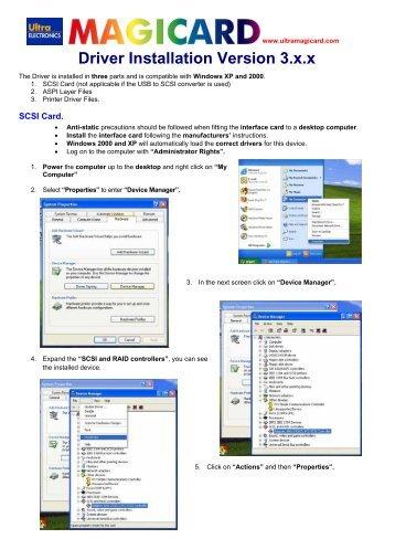 Driver Installation Version 3.x.x
