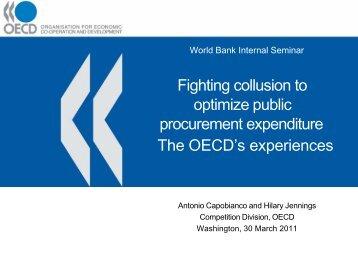 Fighting collusion to optimize public procurement expenditure The ...