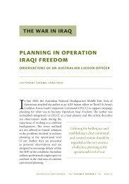 Planning in Operation Iraqi Freedom ... - Australian Army