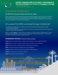 Sponsor announcement.pdf - iufro landscape ecology conference