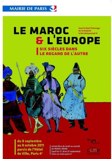 Dossier de presse - Le Maroc et l'Europe - Paris