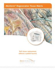 AlloDerm® Regenerative Tissue Matrix - BioHorizons