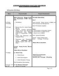 aturcara program minggu kualiti dan keselamatan pada 24