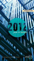 year in review - PRCI