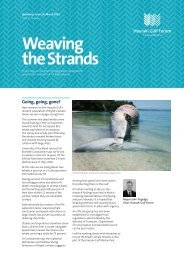 Weaving the Strands March 2012 - MarineNZ.org.nz
