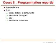 Cours 8 : Programmation répartie