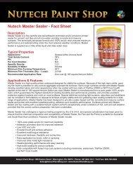 Nutech Master Sealer - Fact Sheet - iMetal.net