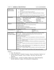 Curriculum Map American History Ap - Us-history-curriculum-map