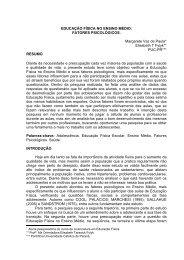 EDUCAÇÃO FÍSICA NO ENSINO MÉDIO: FATORES ...
