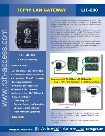 RBH LIF200 v2006.pdf - Zone Technology
