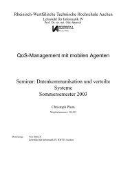 QoS-Management mit mobilen Agenten Seminar ... - Informatik 4