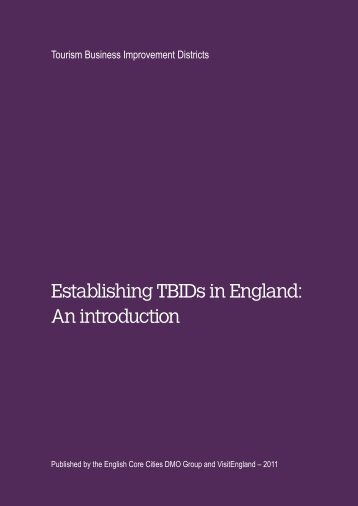Establishing TBIDs in England: An introduction - VisitEngland