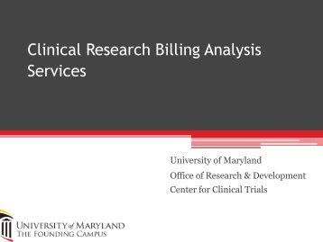 Clinical Research Request Form - University of Maryland, Baltimore