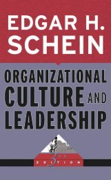 ORGANIZATIONAL CULTURE Organizational Culture and Leadership, 3rd Edition