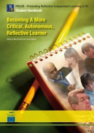 Becoming A More Critical, Autonomous, Reflective Learner