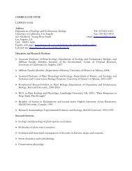 CURRICULUM VITAE LAWREN SACK Address Department of ...