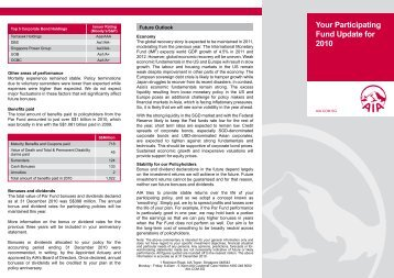 Your Participating Fund Update for 2010 - AIA Singapore