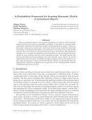 A Probabilistic Framework for Learning Kinematic Models of ...