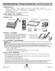 Modulating Remote – Omega Universal Gas ... - Creative Energy