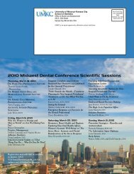 2010 Midwest Dental Conference Scientific Sessions