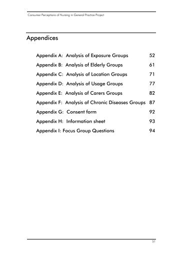 Usage, Exposure and Location Groups - Department of Health and ...