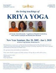 the loving teachings of - Kriya Yoga Institute
