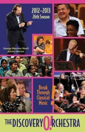 Season Brochure - The Discovery Orchestra
