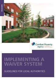 Implementing a Waiver System - Combat Poverty Agency
