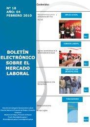 Boletin N 18 final - Ministerio del Trabajo y Promoción del Empleo