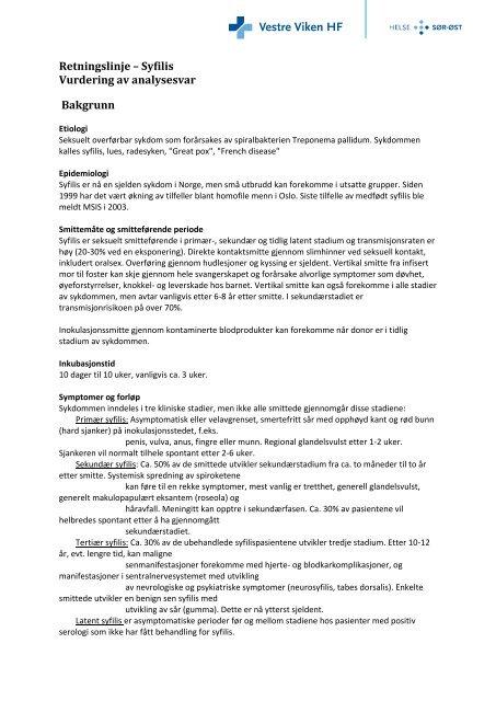 Syfilis - Vestre Viken HF