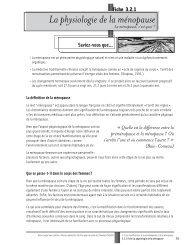 La physiologie de la ménopause - Réseau québécois d'action pour ...