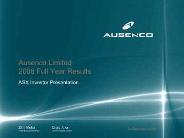 2008 Full Year Results Presentation - Ausenco
