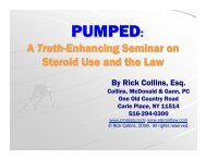 PUMPED: A Truth-enhancing Seminar on Steroid Use and the Law ...