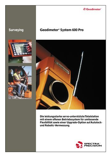 Geodimeter® System 600 Pro Surveying