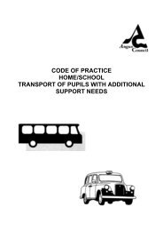Code of Practice Home/School Transport of Pupils ... - Angus Council