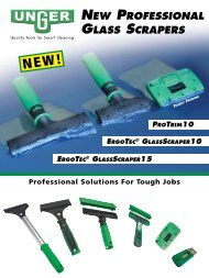 NEw profEssioNal glass scrapErs - Unger