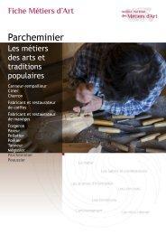 Parcheminier - Institut National des Métiers d'Art