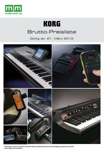 Brutto-Preisliste - Musik Meyer AG