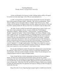 Teaching Statement Timothy Renick, Georgia State University
