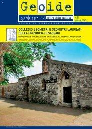 Maggio 2013 - Collegio dei Geometri della provincia di Sassari