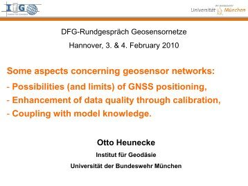 Some aspects concerning geosensor networks: