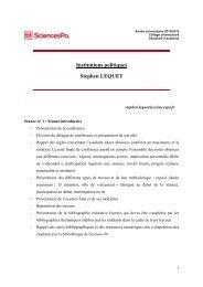 Institutions politiques Stephen LEQUET - Sciences Po