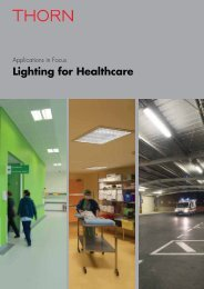 Lighting for Healthcare - Thorn