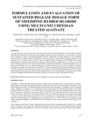Formulation and evaluation of sustained release dosage form