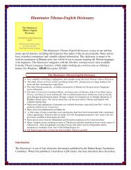 Illuminator Tibetan-English Dictionary - Tibetan Language Institute ...